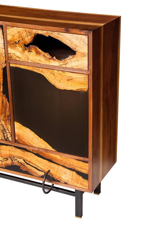 Spalted Maple Face Cabinet By Don Howell Circa 2010 For