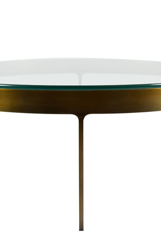 Bronzed Haworth Ring Cocktail Table For Sale