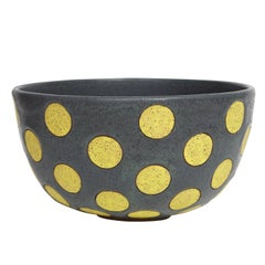 Yellow Polkadot Bowl