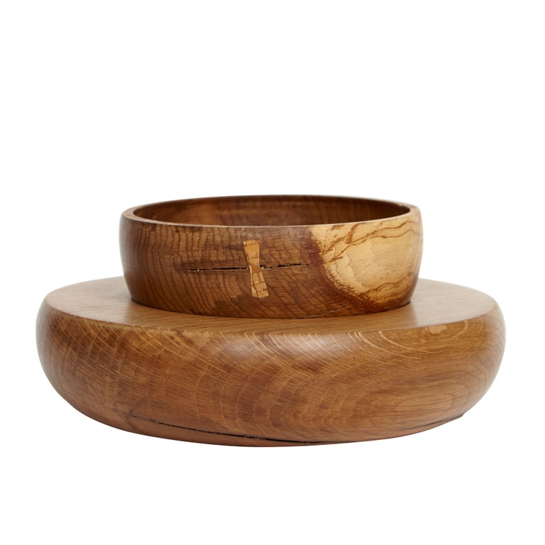 Klotzwrk Solid Oak Lathe Turned Bowl Set