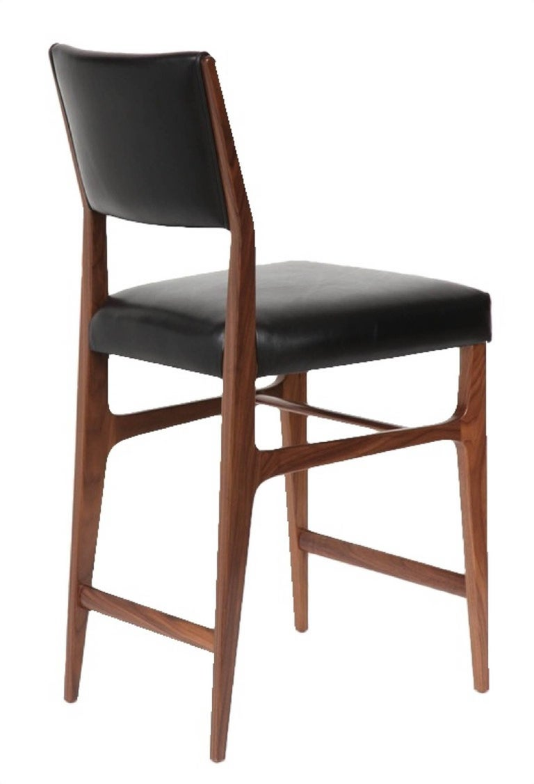 American Set of Five Maze Walnut Counter Stools For Sale