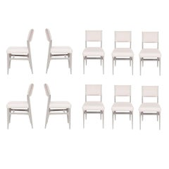 Set of Ten Maze Lacquered Dining Chairs