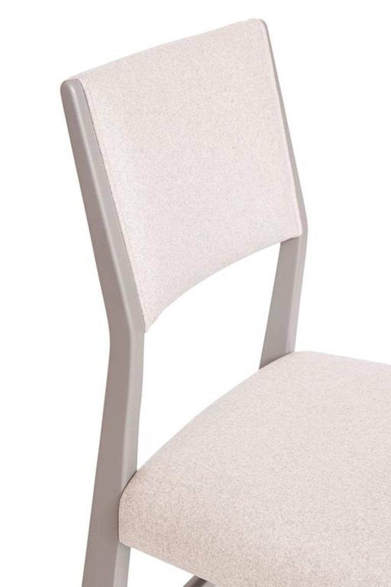 Contemporary Set of Eight Maze Lacquered Dining Chairs For Sale