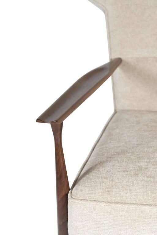 Contemporary Morris Winged Back Armchair For Sale