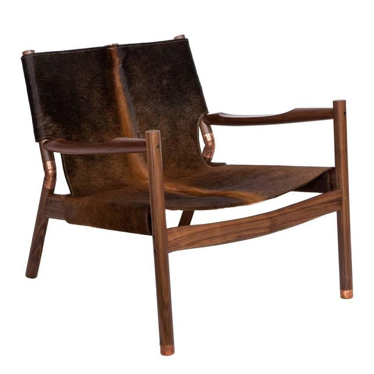 Erickson Aesthetics  Slung Brindle Walnut Lounge Chair