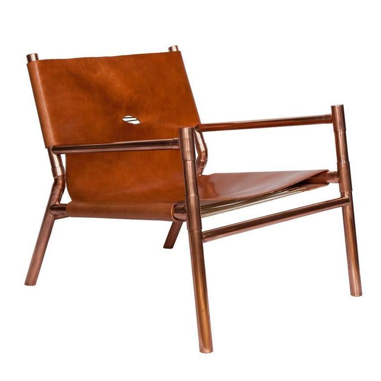 Erickson Aesthetics  Slung Calf Copper Lounge Chair
