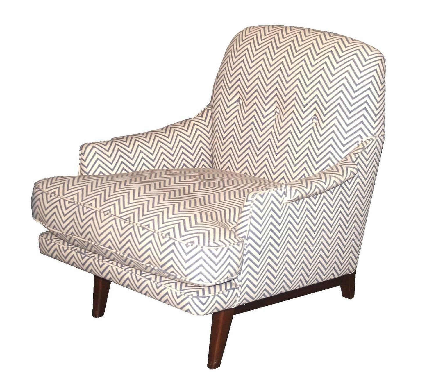 Classic Modern Lounge Chair and Ottoman by Dunbar at 1stdibs