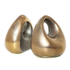 "Ben Seibel for Jenfredware ""Orb"" Brass Bookends"