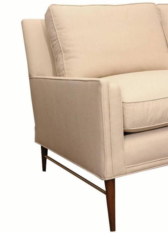 Paul McCobb Directional Sofa on Brass Stretcher Base 3
