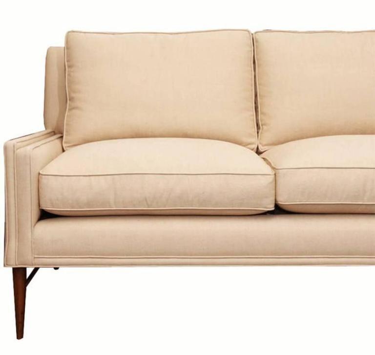 Paul McCobb Directional Sofa on Brass Stretcher Base 5