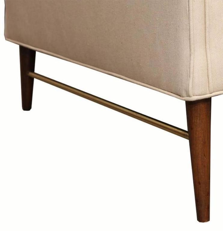 Paul McCobb Directional Sofa on Brass Stretcher Base 4