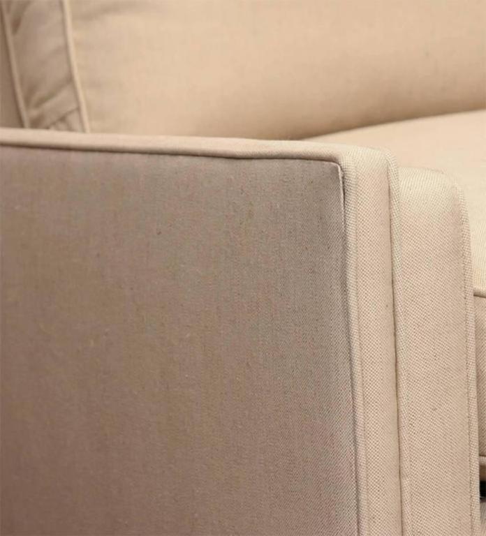 Paul McCobb Directional Sofa on Brass Stretcher Base 6
