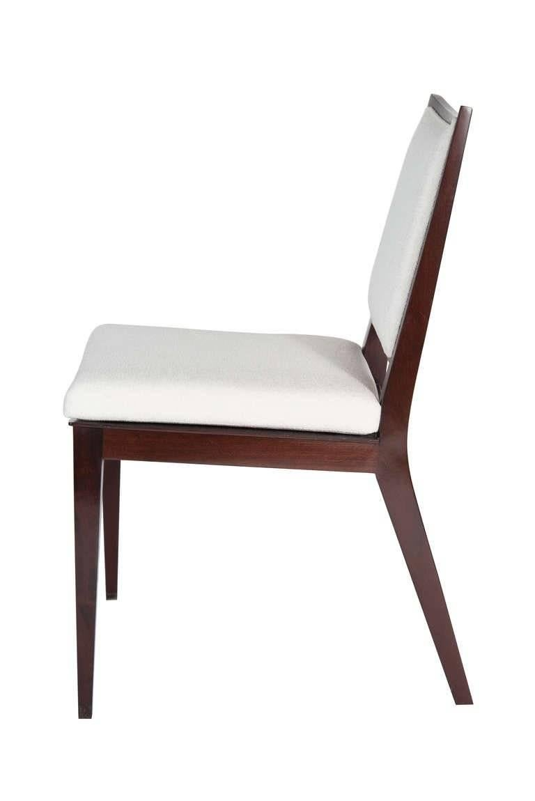 Mid-Century Modern Set of Eight Frame Back Dining Chairs For Sale