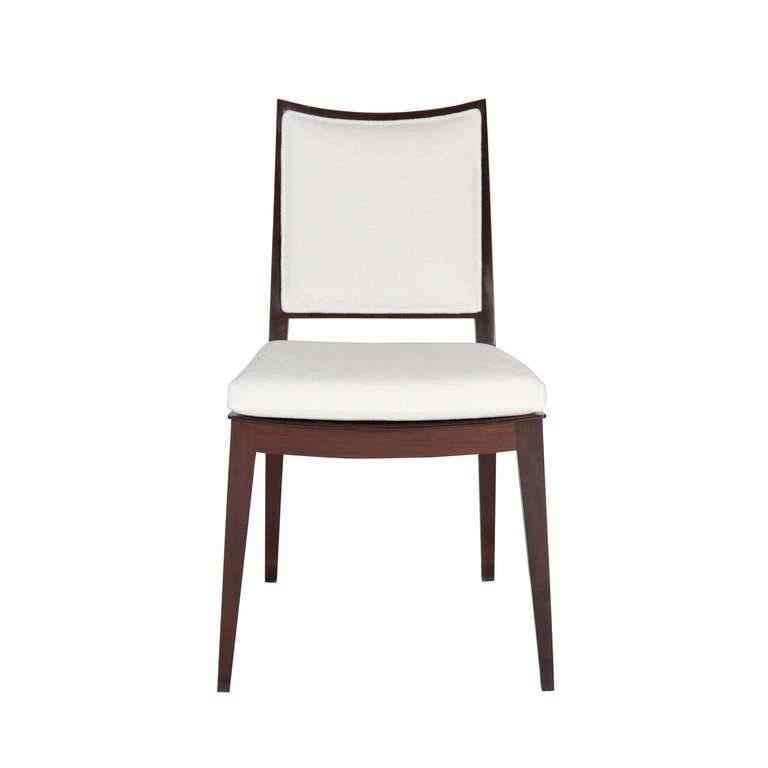 Set of Eight Frame Back Dining Chairs In Excellent Condition For Sale In New York, NY