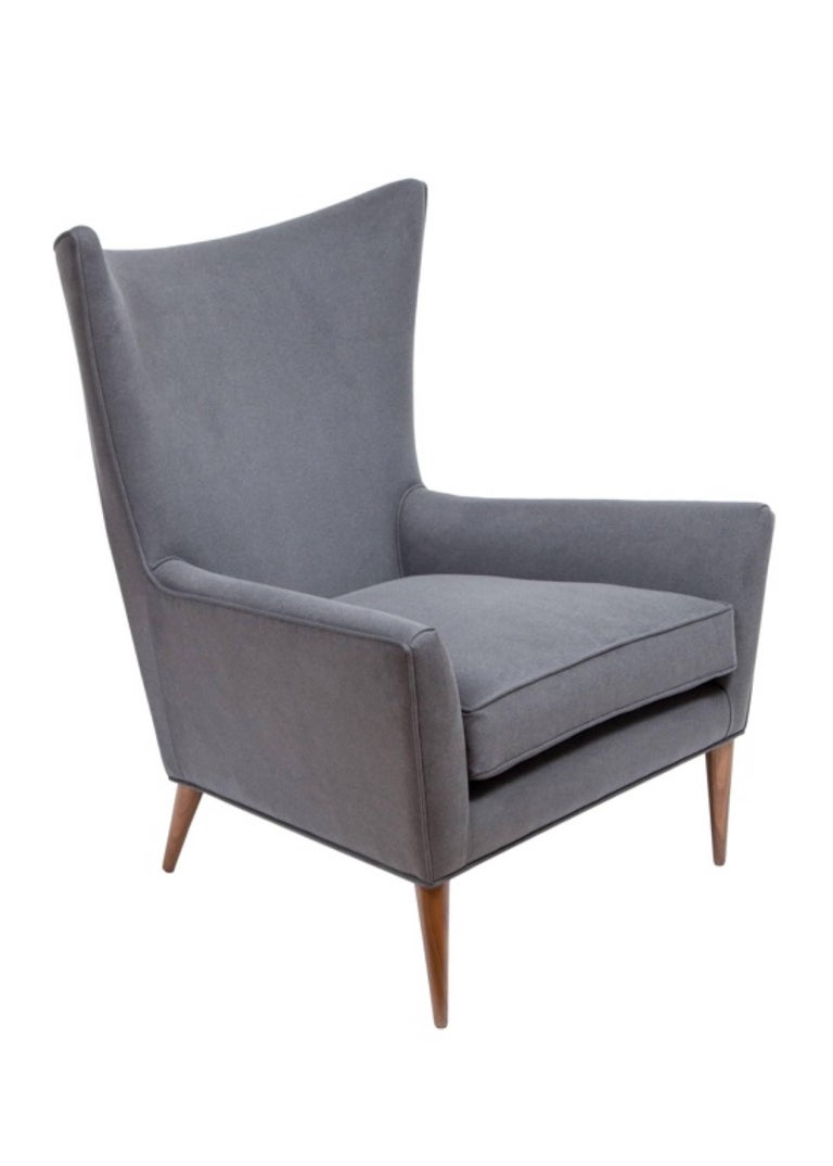 Pair Of Morton Curved Back Wing Chairs For Sale At 1stdibs