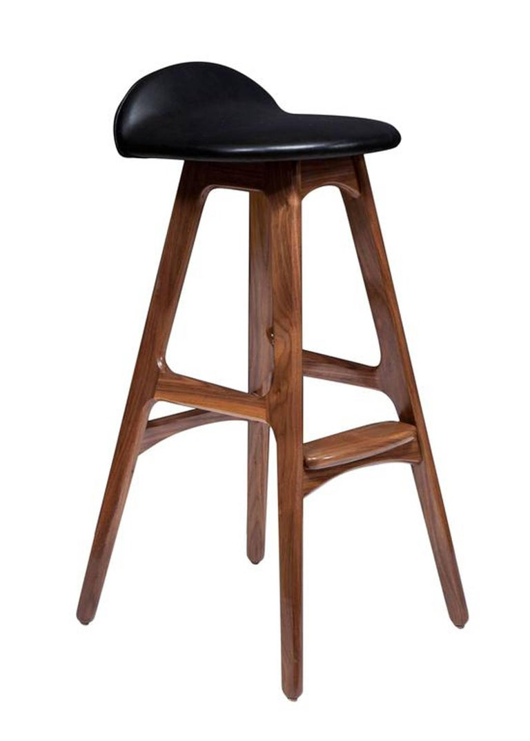 Mid-Century Modern Set of Five Boyd Counter Stools For Sale