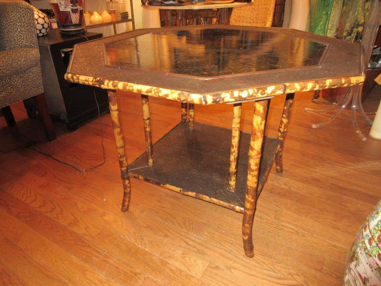 Magnificent Late 19th Century Faux Tortoiseshell and Chinoiserie Center Table 8