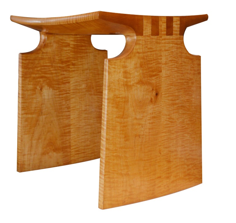 American Craftsman Pair of Natural Bamboo Side Tables For Sale