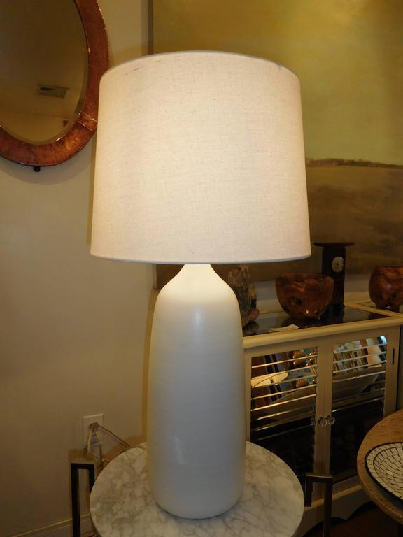 Large Studio Pottery White Lamp 4