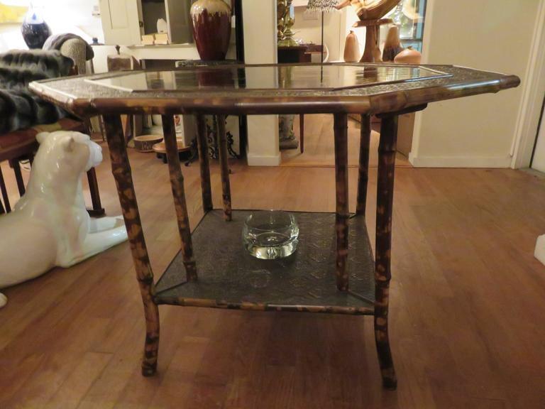 Magnificent Late 19th Century Faux Tortoiseshell and Chinoiserie Center Table 10