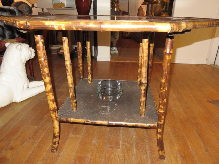 Magnificent Late 19th Century Faux Tortoiseshell and Chinoiserie Center Table 9