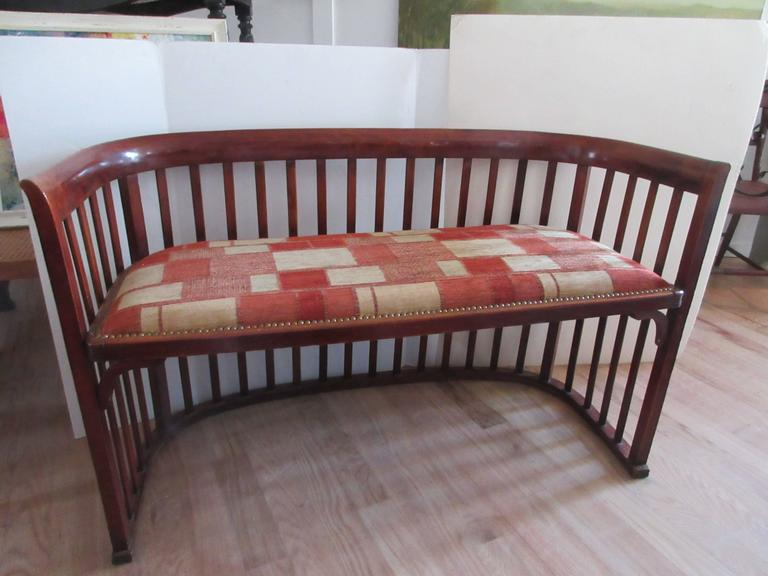 Spindle Framed Bench in the Style of Joseph Hoffmann 7