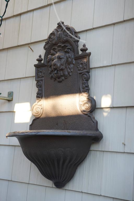 English Cast Iron Lion Head Fountain Planter For Sale At