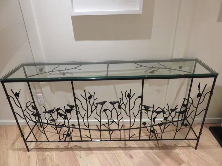 Magnificent Giacometti Style Hand-Forged Console Table 3