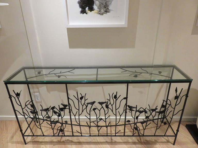 Magnificent Giacometti Style Hand-Forged Console Table 5
