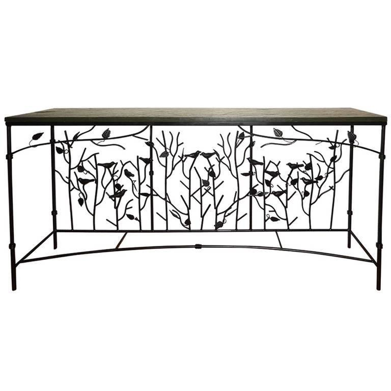 Magnificent Giacometti Style Hand-Forged Console Table 2