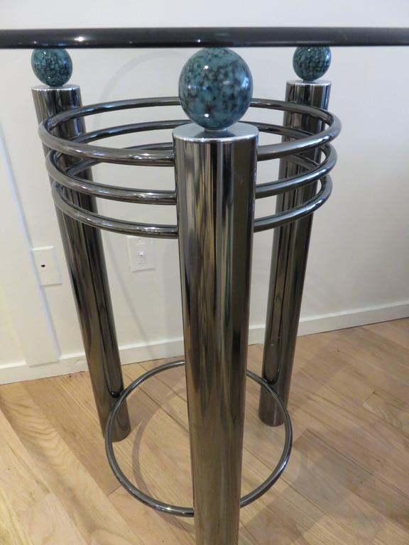 Mid-Century High Top Chrome and Marble Cocktail Table, circa 1960s 4