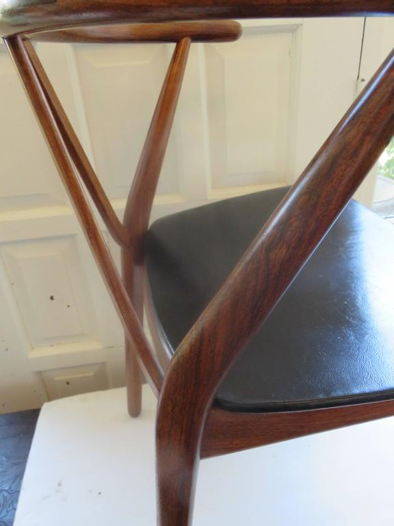 Mid-Century Danish Modern Chair by Henning Kjdaernulf for Bruno Hansen 5