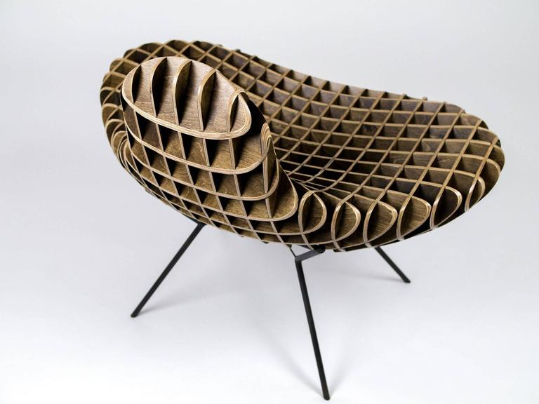 Hand-Crafted 'The Quarry Collection' Bantam Chair, by Studio Artist, Ryan Dart, USA, 2017 For Sale