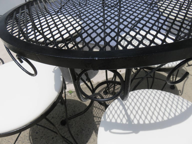 Painted Woodard Mid-Century, 1950-1950, Bistro Set For Sale