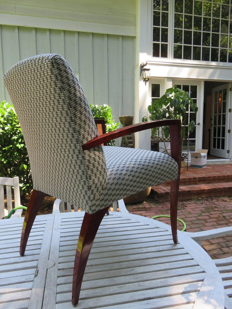 American Pair of Kenneth Winslow Studio Crafted Armchairs For Sale