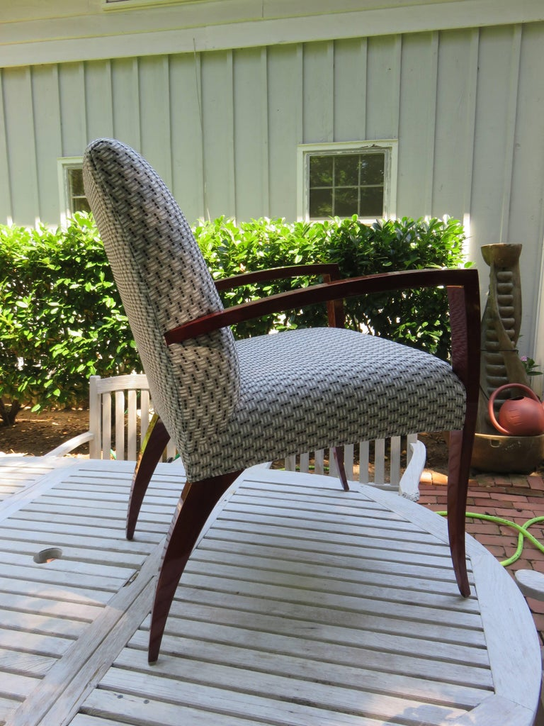 Hand-Crafted Pair of Kenneth Winslow Studio Crafted Armchairs For Sale