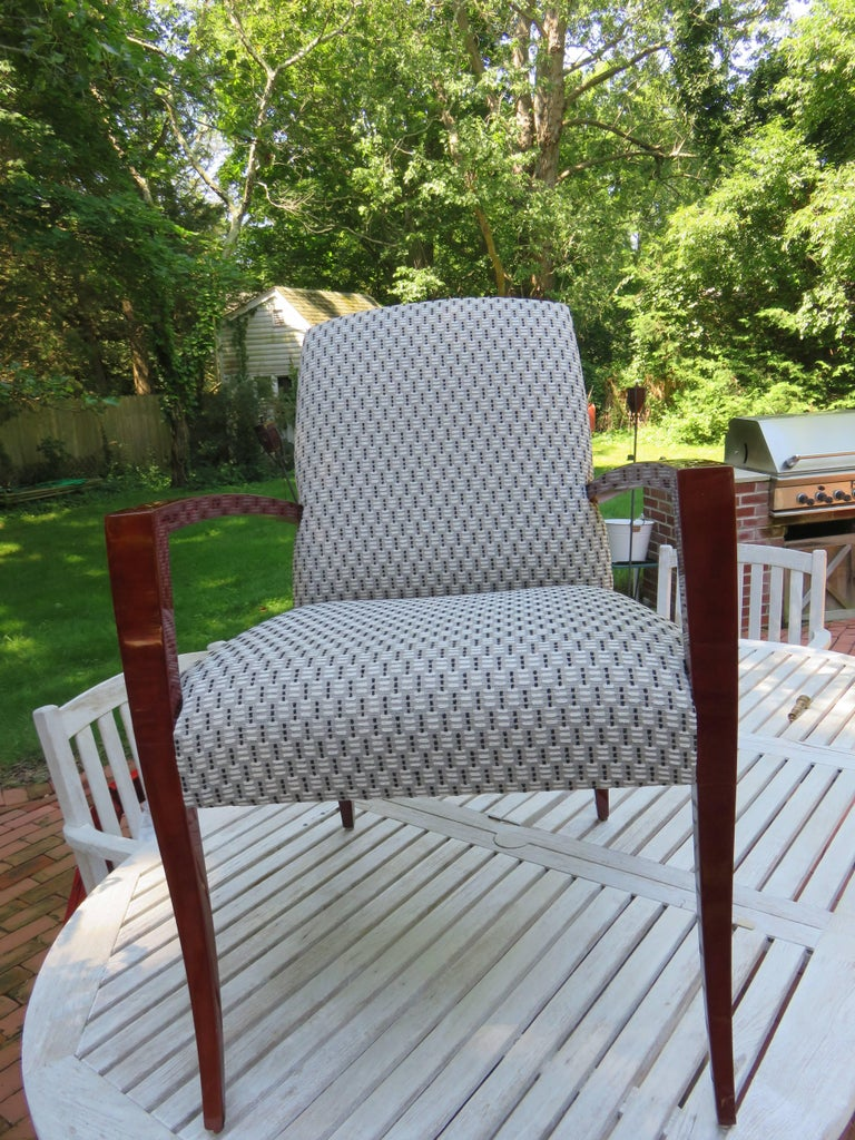 Pair of Kenneth Winslow Studio Crafted Armchairs In Excellent Condition For Sale In Bellport, NY