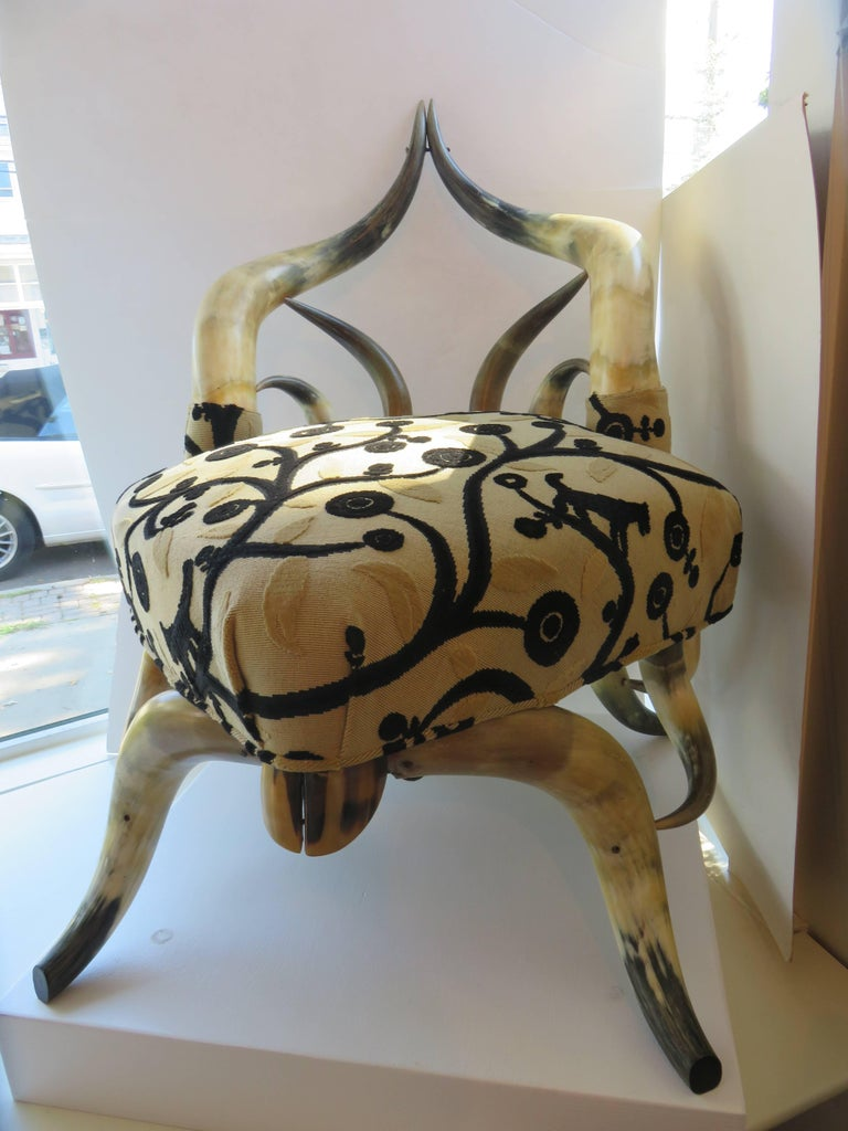 Rare Steer Horn Beetle Form Chair, 1910-1915 2
