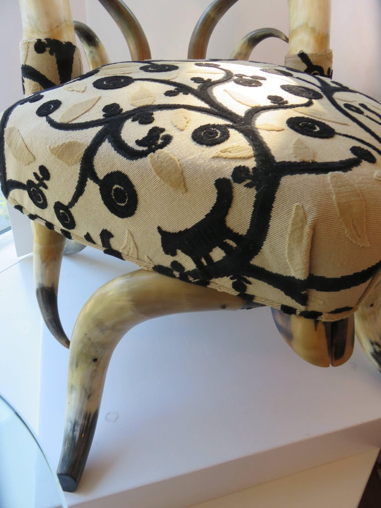 Rare Steer Horn Beetle Form Chair, 1910-1915 5