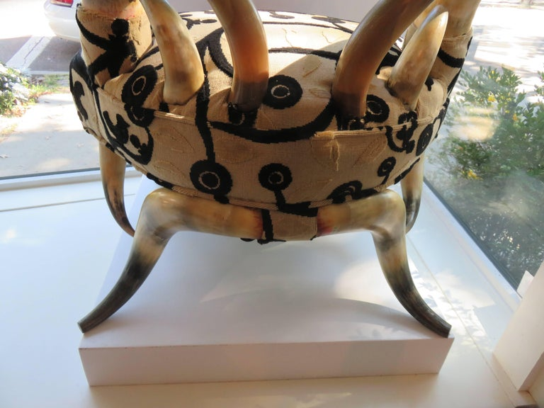 Rare Steer Horn Beetle Form Chair, 1910-1915 3