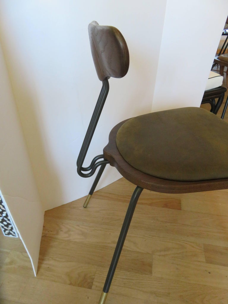 Italian Modern Dining Room Table and Six Chairs For Sale 4