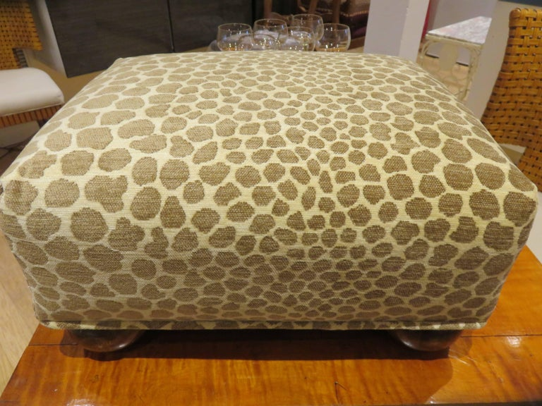 20th Century Antique  English Foot Stool, 1890s For Sale