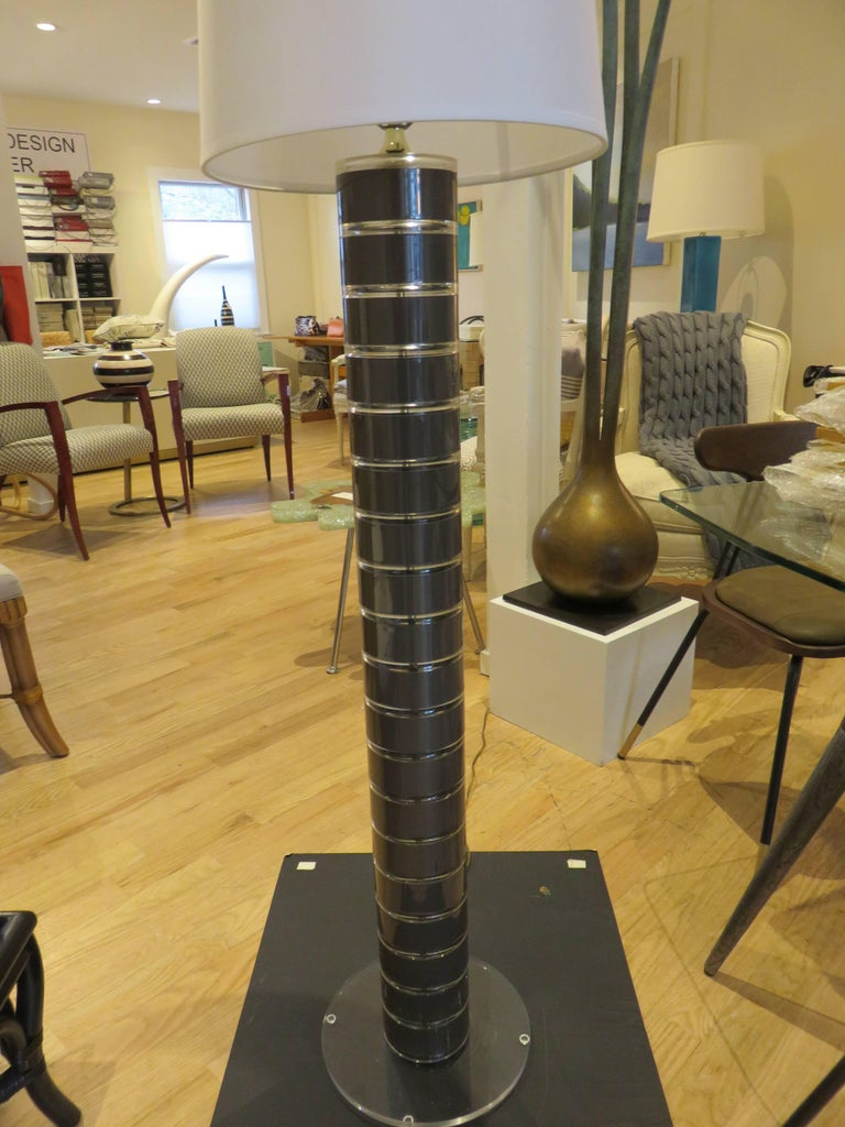 Rare 1970s Stacked Lucite Modern Floor Lamp by Optique 5