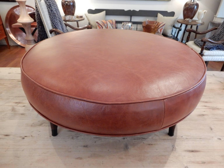 Hand-Crafted Danish Mid-Century Modern Low Ottoman  For Sale