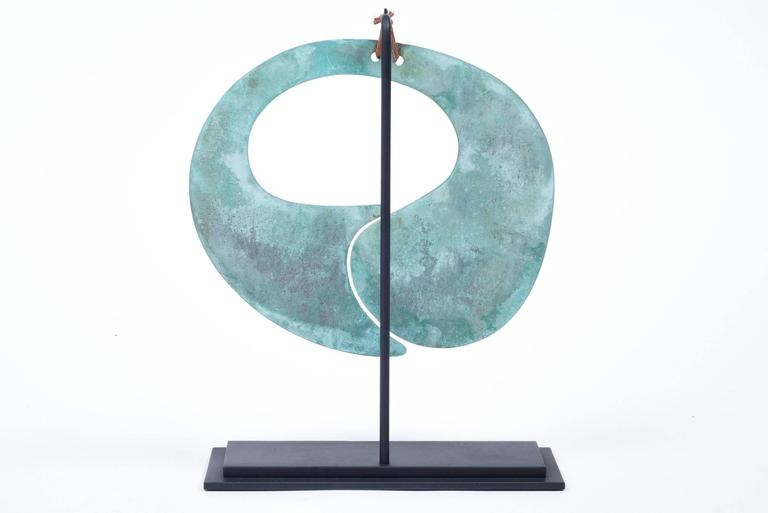 American Harry Bertoia Patinated Bronze Gong For Sale