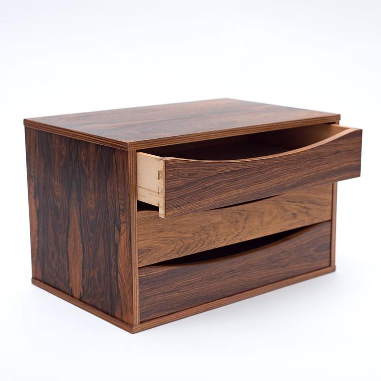 Danish Arne Vodder Rosewood Desk or Dresser Top Organizer, Denmark, 1960s For Sale