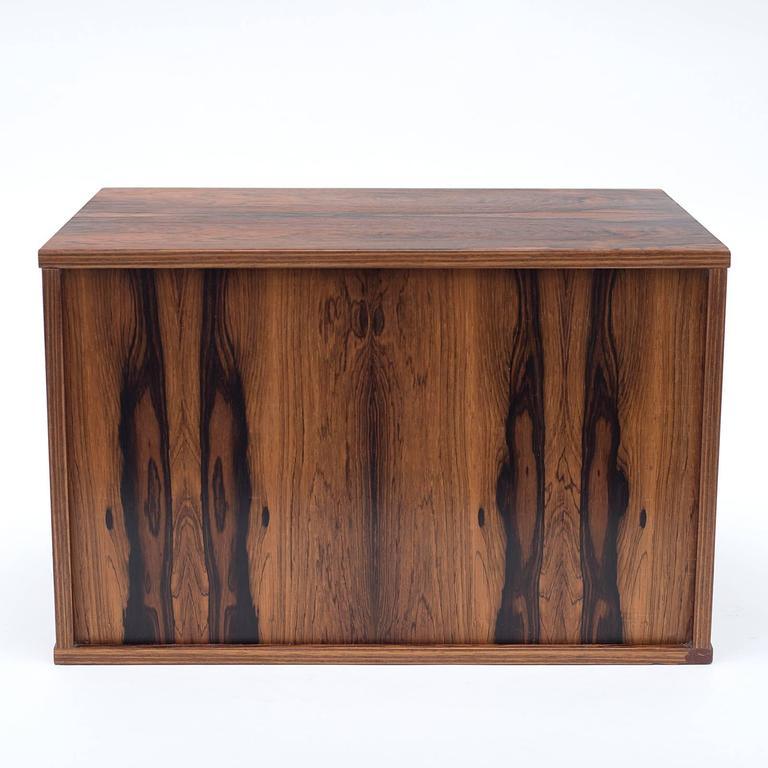 Scandinavian Modern Arne Vodder Rosewood Desk or Dresser Top Organizer, Denmark, 1960s For Sale