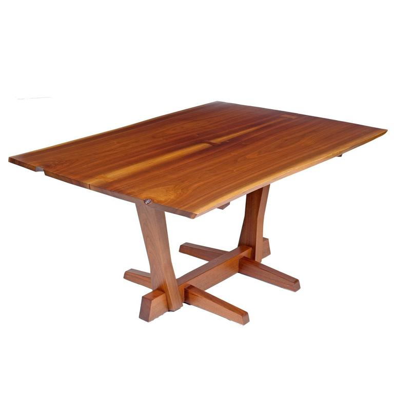 George Nakashima Conoid Dining Table, Black Walnut and Rosewood, USA, 1975