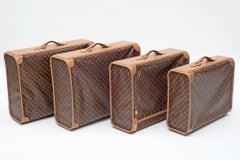 Set of Four Louis Vuitton Soft-Side Canvas Pullman Cases, France 1970s