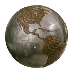 Custom Fabricated Steel and Copper Globe for Soft Drink Ad, USA, 1994